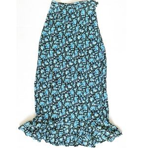 VTG mix it | floral bouquet mermaid hem maxi skirt